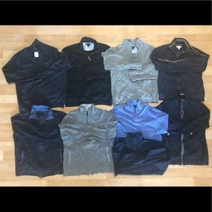 Lot of Men's Full and Half Zip Cotton Sweaters